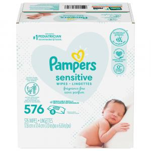 Pampers Sensitive Wipes 8 Resealable Refills