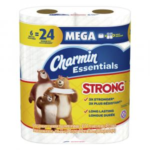 Charmin Essentials Mega Roll Strong Bath Tissue