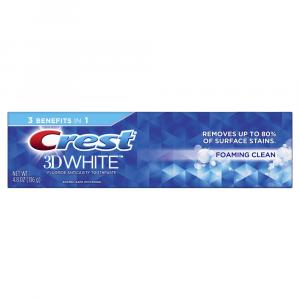 Crest 3D White Foaming Clean Toothpaste