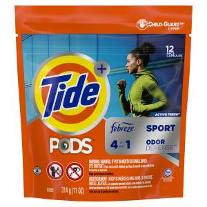 Tide Pods With Febreze Active Fresh Laundry Detergent
