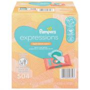Pampers Expressions Fresh Bloom Scent Wipes