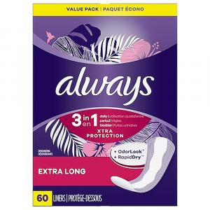 Always Liner Extra Long Extra Protection Plus W/odor Lock
