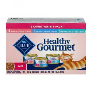Blue Buffalo Healthy Gourmet Pate Cat Food Variety