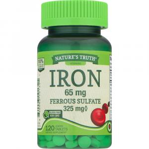 Nature's Truth Iron 65mg Ferrous Sulfate 325mg