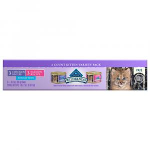 Blue Buffalo Wilderness Pate Variety Pack Kitten Food