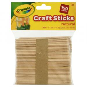 Crayola Craft Sticks Natural