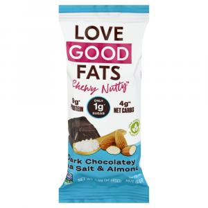 Love Good Fats Bars Dark Chocolate Sea Salt Almond