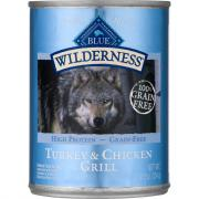 Blue Buffalo Wilderness Turkey & Chicken Grill Dog Food