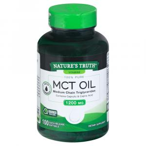 Nature's Truth MCT Oil 1200mg Quick Release Softgels