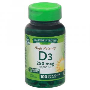 Nature's Truth Vitamin D3 10000 IU Bonus SoftGels