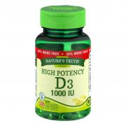 Nature's Truth Vitamin D3 1000 IU Bonus SoftGels