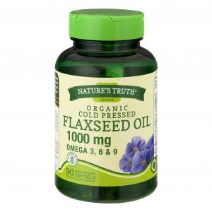 Nature's Truth Organic Cold Pressed Flaxseed Oil 1000mg
