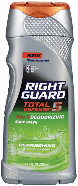 Right Guard Total Defense 5 Refreshing Bodywash