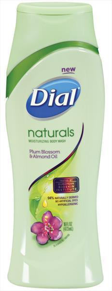 Dial Naturals Moisturizing Body Wash Plum Blossom And Almond