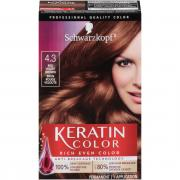 Schwarzkopf Keratin Color Red Velvet Brown 4.3 Hair Color