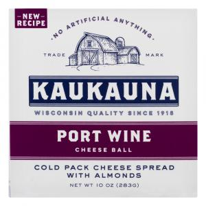 Kaukauna Port Wine Cheese Ball