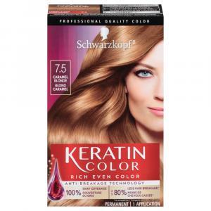Schwarzkopf Keratin Color Caramel Blonde 7.5 Hair Color