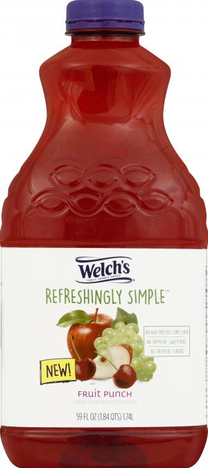 Welch's Refreshingly Simple Fruit Punch