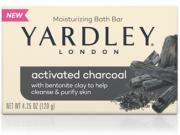 Yardley Activated Charcoal Moisturizing Bath Bar