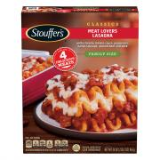 Stouffer's Meat Lovers Lasagna Family Size