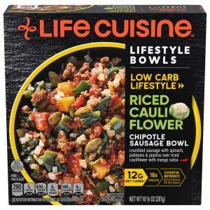 Life Cuisine Spicy Sausage & Rice Cauliflower Bowl
