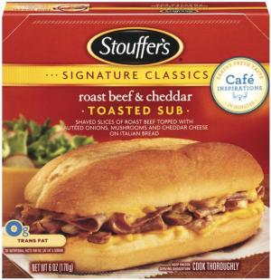 Stouffer's Roast Beef And Cheddar Sub
