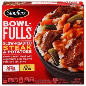 Stouffer's Bowl-Fulls Slow Roasted Steak & Potatoes