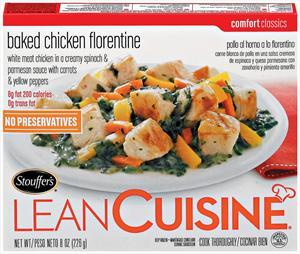 Lean Cuisine Cafe Classics Baked Chicken Florentine