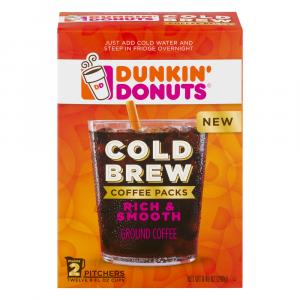 Dunkin' Donuts Cold Brew Coffee Packs Ground Coffee