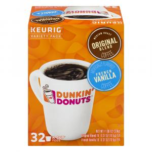 Dunkin' Donuts Variety Pack Original & French Vanilla K-Cups