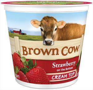 Brown Cow Strawberry Cream Top Yogurt