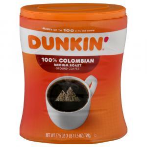 Dunkin' Donuts 100 % Colombian Medium Roast Coffee