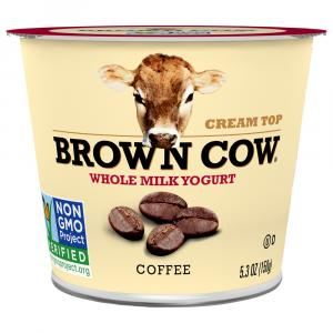 Brown Cow Coffee Cream Top Yogurt