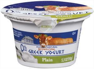 Brown Cow Fat Free Plain Greek Yogurt