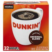 Dunkin' Donuts Original Blend Coffee Single Serving K-Cup