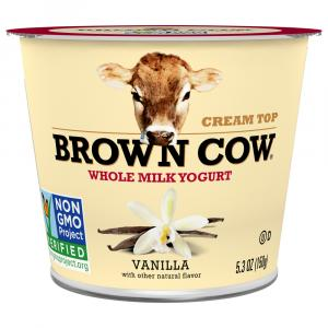 Brown Cow Vanilla Cream Top Yogurt