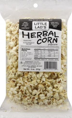 Little Lad's Herbal Corn Popcorn