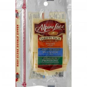 Alpine Lace Pre-Sliced Variety Cheese
