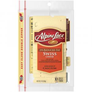 Alpine Lace Pre-Sliced Reduced Fat Swiss Cheese