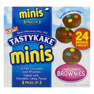TastyKake Mini Chocolate Brownies Topped with M&M's