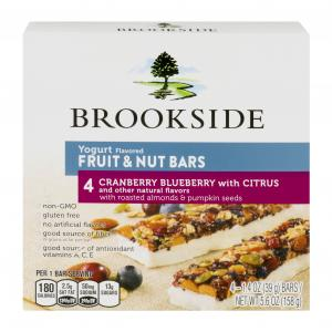 Brookside Yogurt Flavored Fruit & Nut Bars Mixed Berry