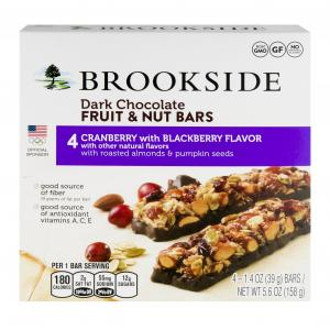 Brookside Fruit & Nut Cranberry Blackberry Bars