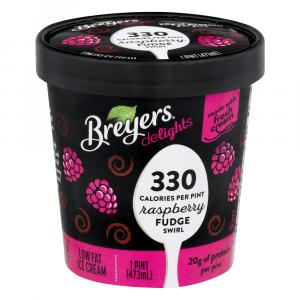 Breyer's Delights Raspberry Fudge Swirl Ice Cream