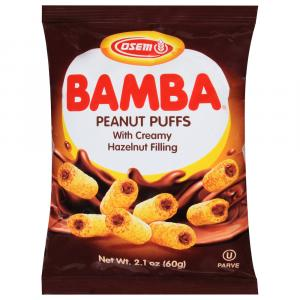 Osem Bamba Peanut Snack With Hazelnut Cream filling