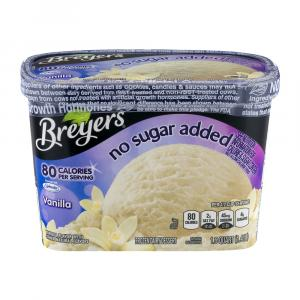 Breyers All Natural No Sugar Added Vanilla Ice Cream