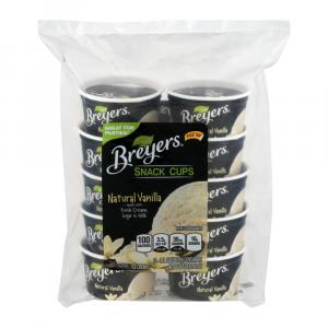 Breyers Cups Vanilla Ice Cream