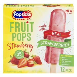 Popsicle Fruit Pops Strawberry