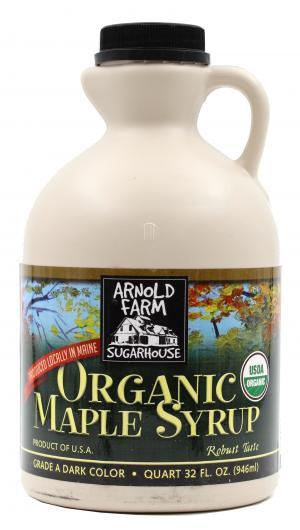 Arnold Farm Sugarhouse Organic Pure Maine Maple Syrup