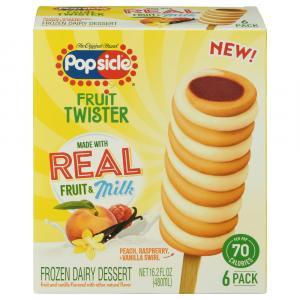 Popsicle Fruit Twister Peach Raspberry & Vanilla Swirl