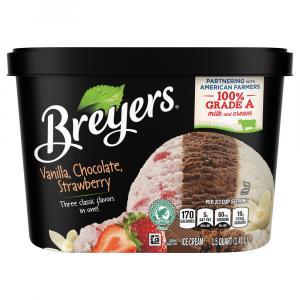 Breyers Vanilla Chocolate Strawberry Ice Cream